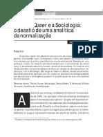 A Teoria Queer e a Sociologia o Desafio de Uma Analitica Da Normalizacao