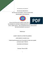 Tesis. Evaluación Del Éxito Operacional De La Cementación  Secundaria En Los Pozos Trabajados En El  Periodo  2012-2014 En El Campo Zapato - Mata R Perteneciente Al Área Mayor De Oficina Distrito Gas Anaco.doc.docx