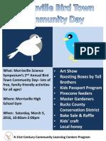 Morrisville Bird Town Community Day