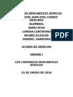 UNIDAD 1 Contratos Atipicos Mercantiles Octavo Derecho