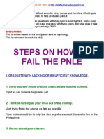 IDIOT'S GUIDE ON HOW TO FAIL THE NLE