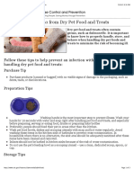 CDC Features - Salmonella From Dry Pet Food and Treats