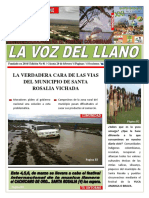 Primera edición del periódico LA VOZ DEL LLANO