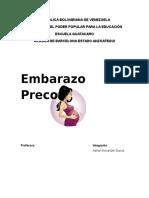 Qué Es El Embarazo Precoz