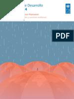 Informe Sobre Desarrollo Humano 2014 Onu