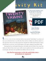 Twenty Yawns Activity Kit