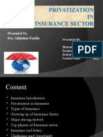 Privatisation in Insurance Sector