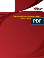 IAAF World Athletics Series Competitions - Technical Regulations