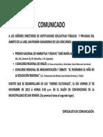 Comunicado Premiación Area Comunicacion