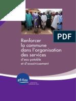 Ps Eau Renforcer La Commune Dans l Organisation Des Services d Eau Potable Et d Assainissement 2015