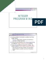 OD Integer Programming 2010