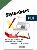 Style Sheet, IEAS, 2008