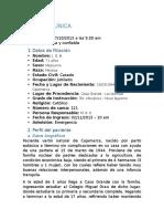 Historia Clínica - Dra. Sosa 2 - CA Pulmón