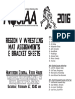 Region 5 Brackets and Mat Assignments for Saturday