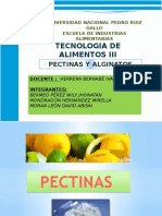 Pectinas y Alginatos Exposicion