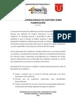 Trabajo_ Norma Internacion de Auditoria Sobre Planificacion _CIPA_JULIFA - Administracion Financiera IX