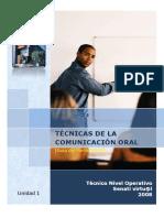 tecnicas de la comunicacion oral senati pdf