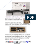 Galileoscope Instructions 20091201 Rtf