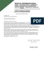 Surat Tugas Pengumpulan Dana Masjid