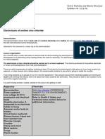 2. Electrolysis of Molten Zinc Chloride