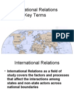 International Relations Key Terms