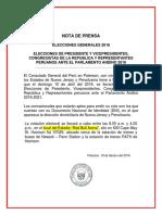 local de Votación Elecciones Peru 2016 - New Jersey
