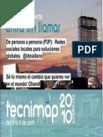 De Persona a Persona (p2p) Redes Sociales Locales Para Soluciones Globales