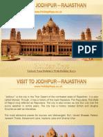 Visit to Jodhpur—Rajasthan | HolidayKeys.co.uk