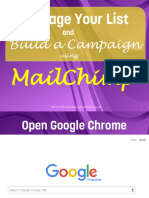 Manage Your List and Build a Campaign Using MailChimp