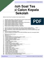 Download Contoh Soal Tes Seleksi Calon Kepala Sekolah Kepalasekolah.org