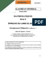 BACS Mathematiques 2015 serie s