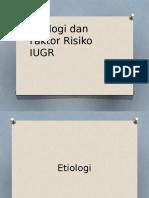 Etiologi Dan Faktor Risiko IUGR