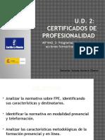 U.D. 2_ Los Certificados de Profesionalidad