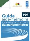 Guide aide-mémoire sur les rôles et fonctions des parlementaires
