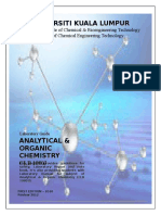 Lab Manual Analytical Organic Chemistry CLB 10803