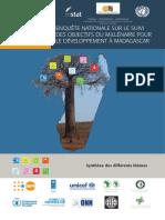 Enquête nationale 2012-2013 sur le suivi des OMD à Madagascar