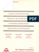 21 - Trade in Manufactured Products With Developing Countries - Reinforcing North-South Partnership (1981)