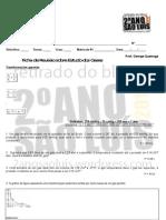 Química - revisão estudo dos gases - ficha - george