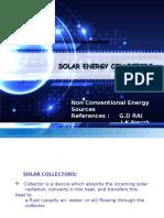 NCES Presentation on Solar Collectors