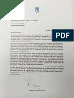 Carta de Carmena Pide Por La Liberta de Presos Políticos