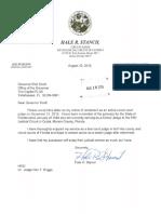 Judge Hale Ralph Stancil - Retirement Documents