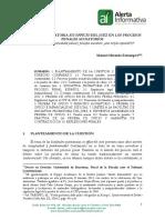 Iniciativa Probatoria Ex Officio Del Juez en Los Procesos Penales Acusatorios