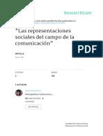 Las representaciones sociales del campo de la comunicacion