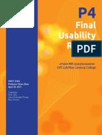 usability study efolio mn - century college