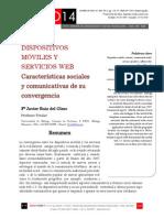 Icono14. Nº15. Dispositivos móviles y servicios web. Características sociales y comunicativas de su convergencia