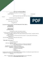 Model Cv Curriculum Vitae European Romana