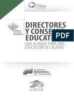 Directores y Consejo Educativo. Alianza para una educación  de Calidad