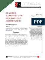 Icono14. Nº15. El mobile marketing como estrategia de  comunicación