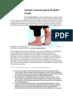 Recomendaciones Caseras Para El Dolor en Planta Del Pie