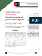 Icono14. Nº15. Metalenguaje interactivo. Herramientas en la red para los nativos digitales